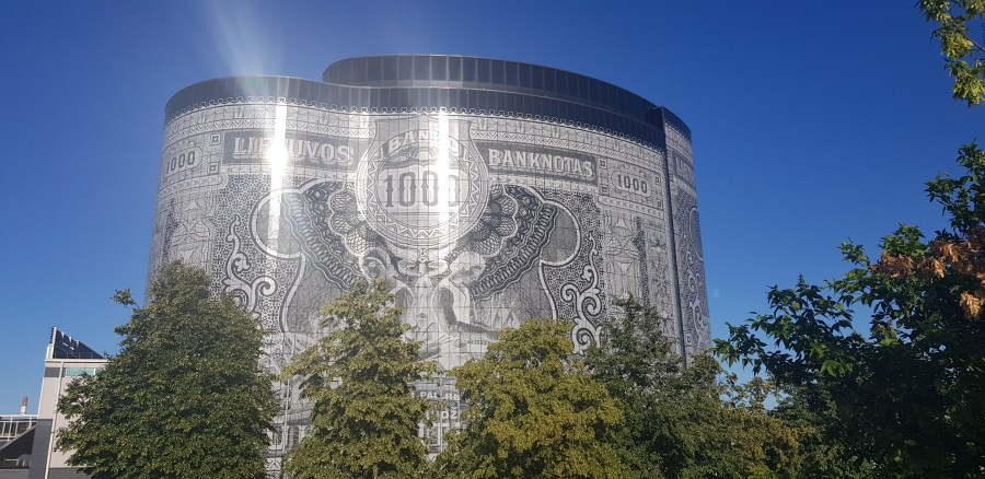 Money building in Kaunas