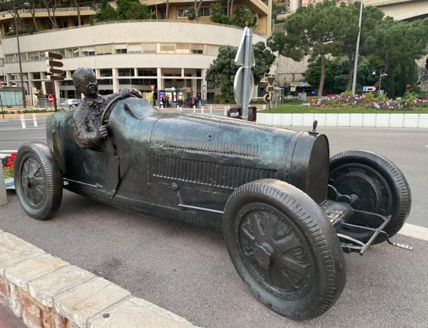 William Grover-Williams monument in Monaco