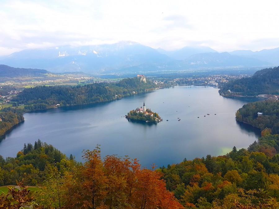Velika Osojinica view of Lake Bled