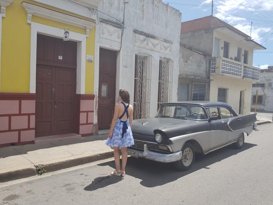 Outside Hostal Cuba Linda