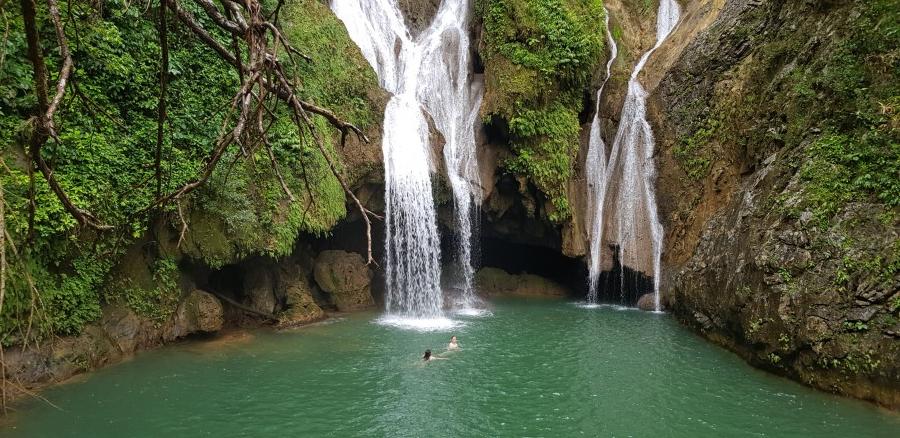 Swimming in the Vegas Grande waterfall in Trinidad Cuba
