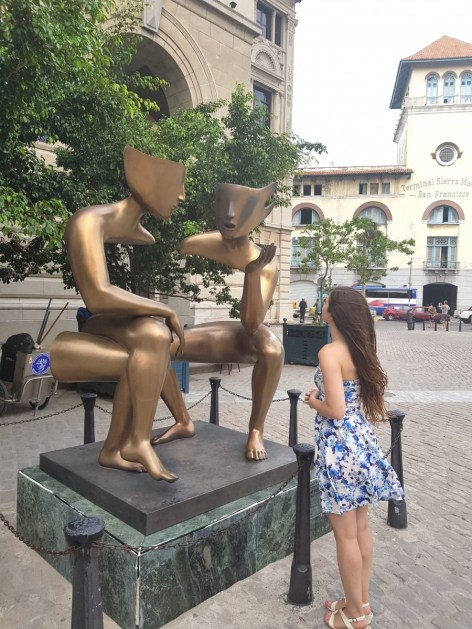 Sculpture Conversation located at Plaza San Fransisco