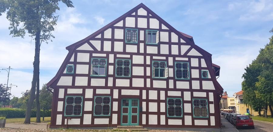 German style building in Klaipeda