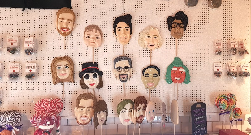 Some famous candy faces