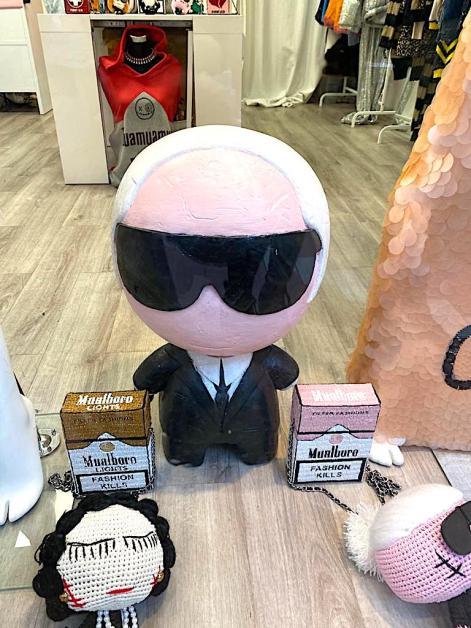 Karl Langford doll in Monaco