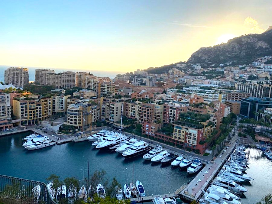 View of the harbour from Prince's Palace, Monaco