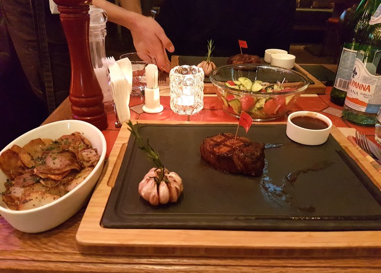 Steak at Ribeye Restaurant