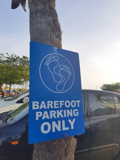Sign at Barefoot restaurant