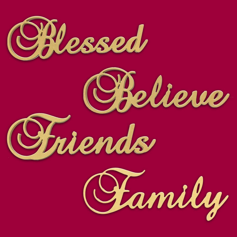 10 believe blessed family friends script cursive text words zoom images publicscrutiny Choice Image