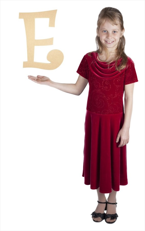 """Curly Letters 16"""" Letter E"""