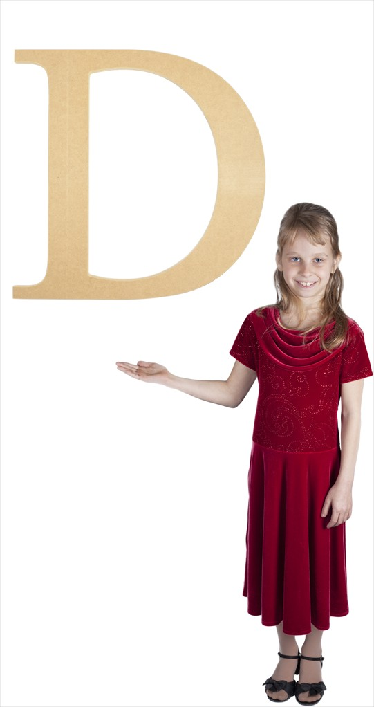 "Times New Roman 24"" Letter D"