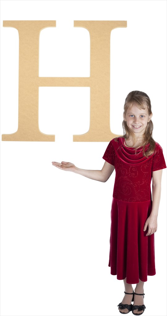 "Times New Roman 24"" Letter H"