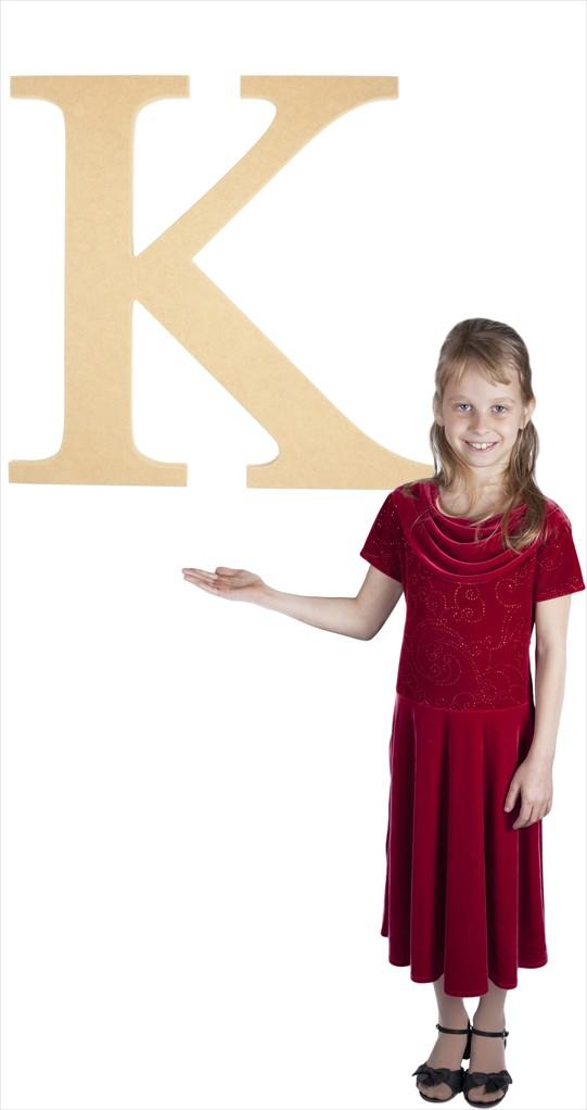 "Times New Roman 24"" Letter K"