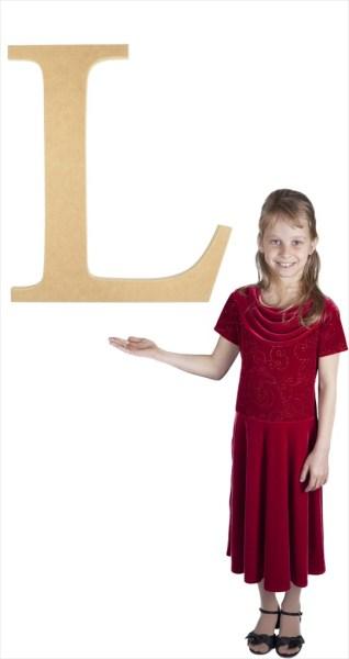 "Times New Roman 24"" Letter L"
