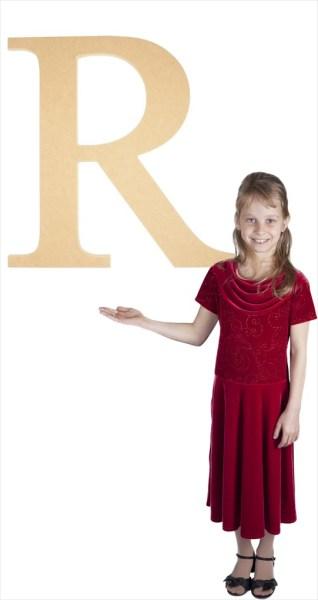"Times New Roman 24"" Letter R"