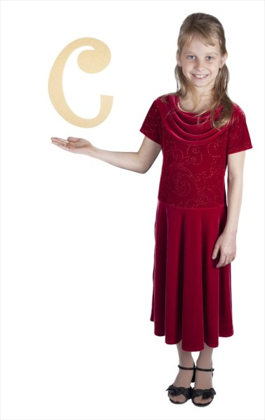 """Curly Letters 10"""" Letter C"""