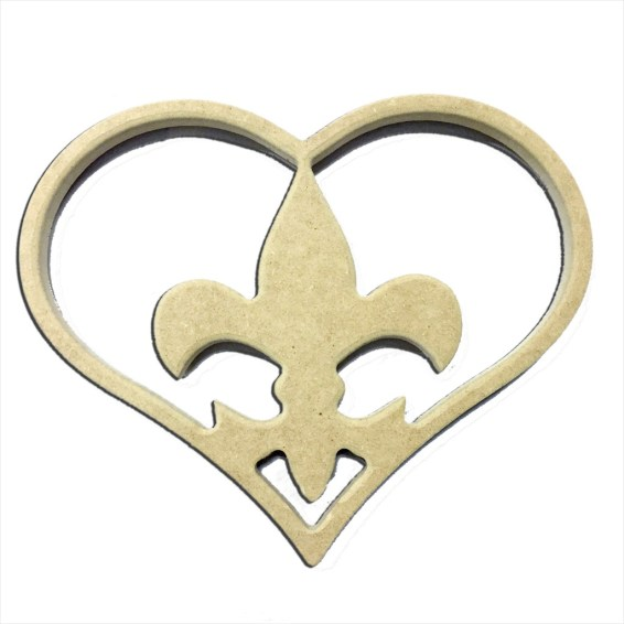 "9"" Fleur De Lis Insert For Home Heart Cutout"