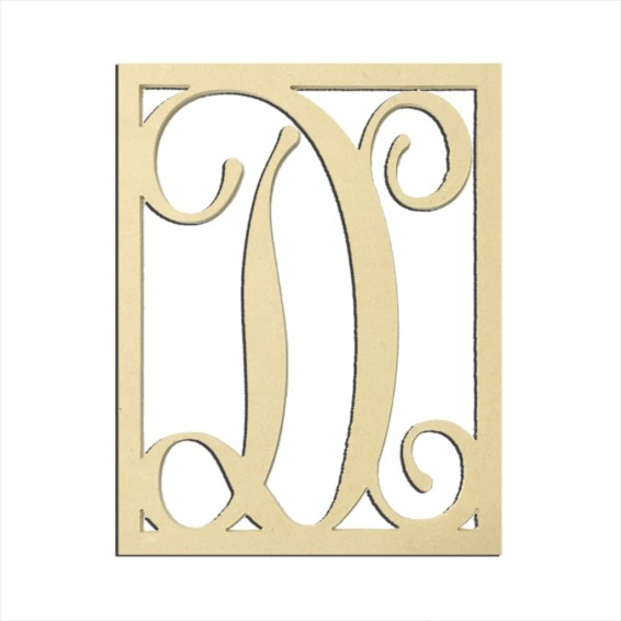 """14"""" Monogram Capital Letter D"""