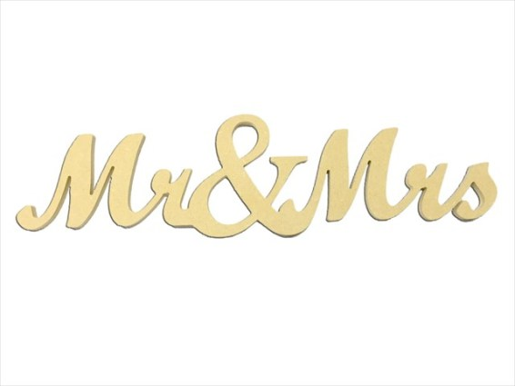 "Mini ""Mr. & Mrs."" Script 4"" Package of 4"