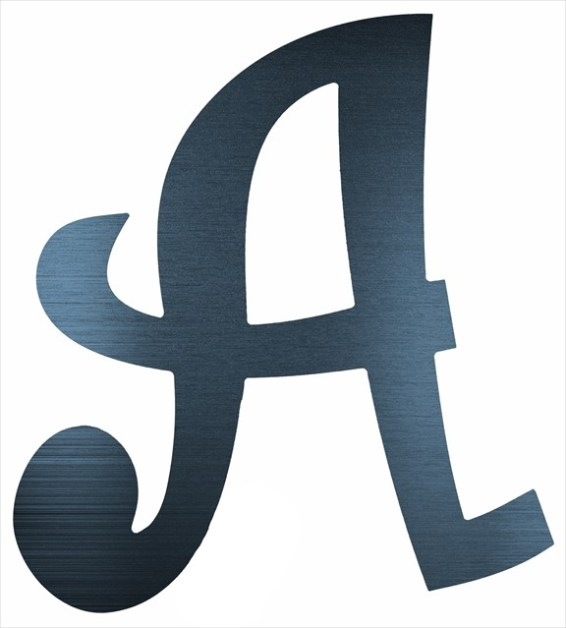"Curly Letter A (2"")"
