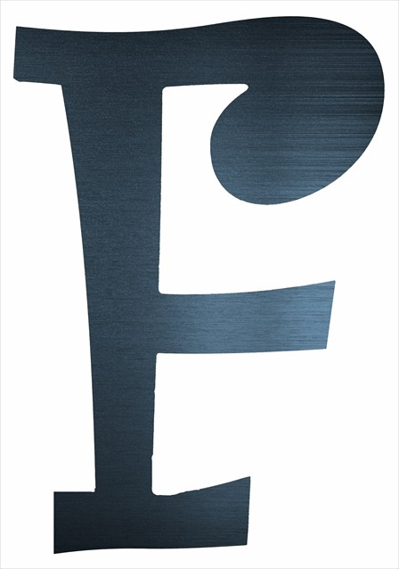 """Curly Letter F (4"""")"""