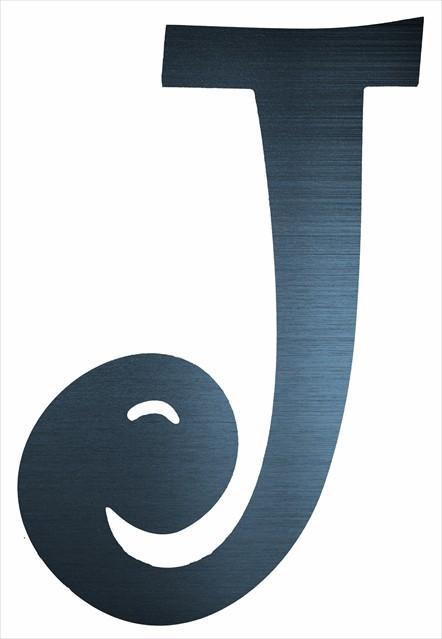 "Curly Letter J (4"")"