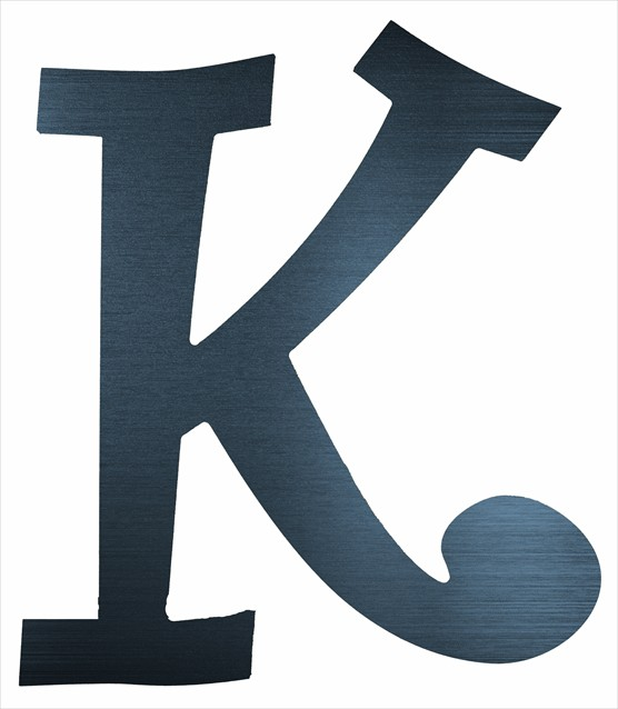 "Curly Letter K (4"")"