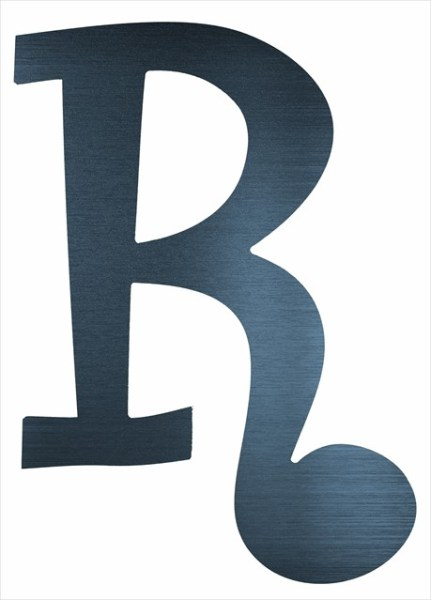 "Curly Letter R (4"")"