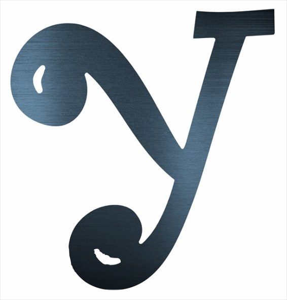 "Curly Letter Y (4"")"