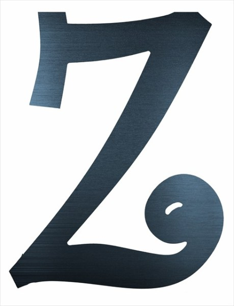 """Curly Letter Z (2"""")"""