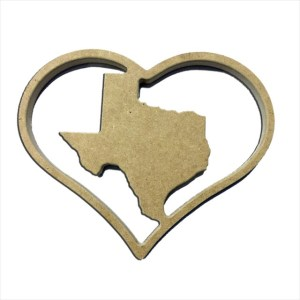 "9"" States Inserts for Home Heart Sign"