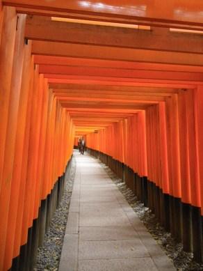 Vermilion gates at Fushimi Inari