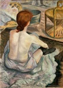 La toilette after: Henri de Toulouse-Lautrec, Deborah Lhota (Pastel)