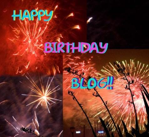 Happy Birthday Blog - Fire works