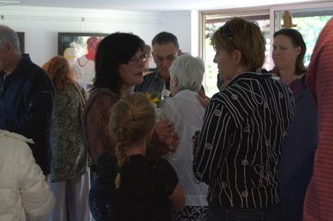 Kadira Jennings speaks with the patrons