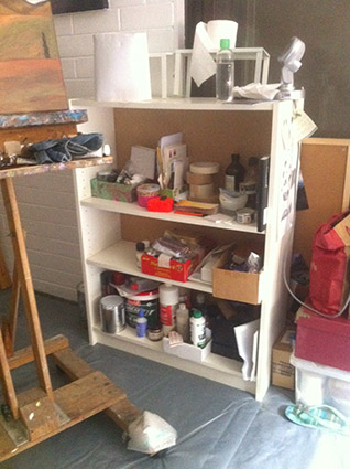 Artist's Studio - shelving