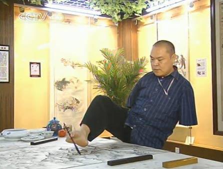 hands,Disabled painter Huang Guofu 2