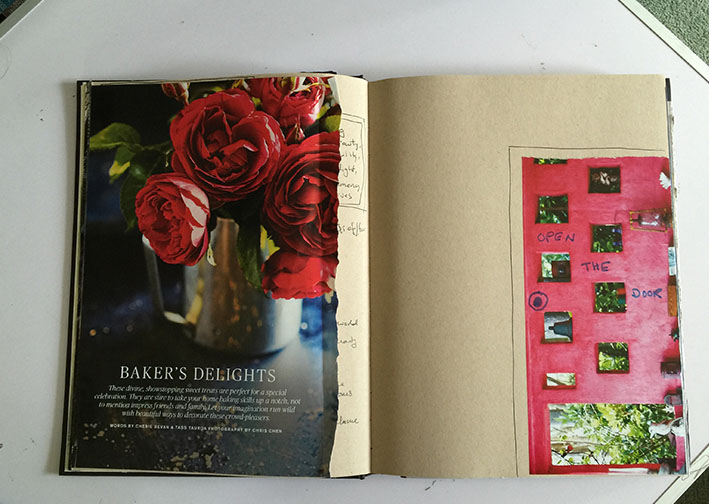 Journal,roses,flowers