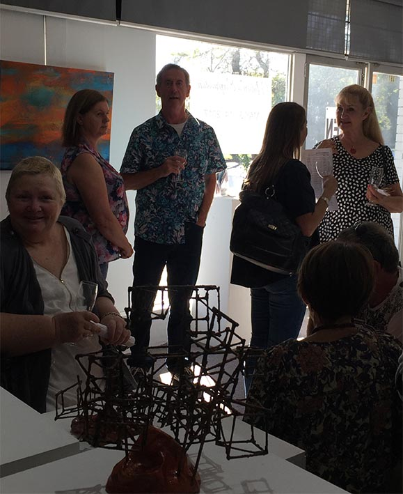 Art Patrons Enjoying the exhibition,natures_expression