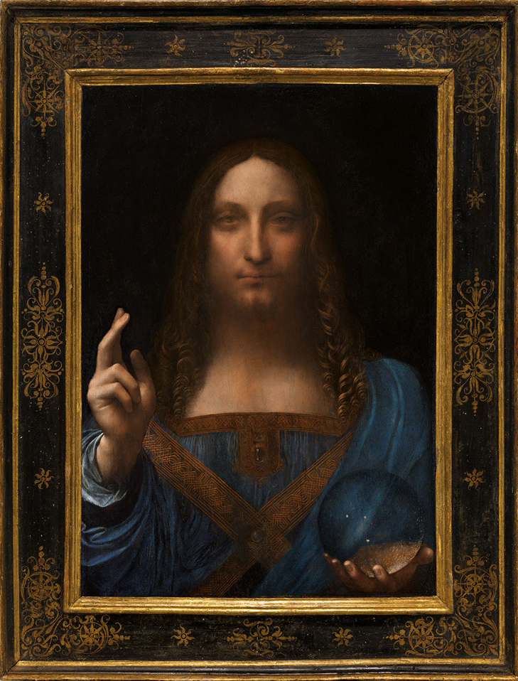 The Salvatore Mundi - Leonardo da Vinci,kadira jennings