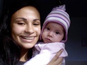 :) my niece, 8 months old