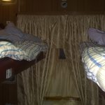 "This is the room we slept in on the ""sleeper train""...more like a crate!"