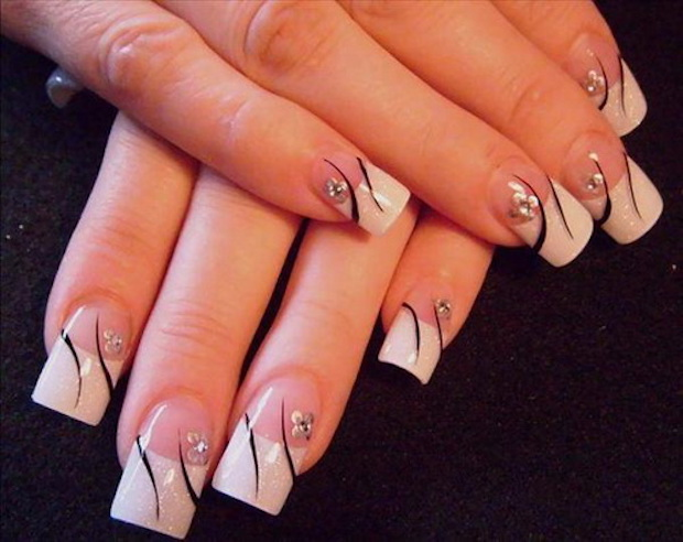 white-nail-art-designs-pretty