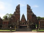 """The classic """"split gate"""" (candi bentar) at Balinese temples opens from the temple complex onto the outside world."""