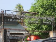 """Tuol Sleng, or S-21, is a former high school that was converted by the Khmer Rouge in 1975 to Security Prison 21. It is estimated that, from 1975-9, 20,000 people were imprisoned, tortured, and executed here. """"Tuol Sleng"""" means """"Strychnine Hill"""" in Khmer."""