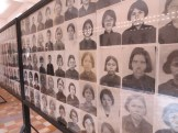 The Khmer Rouge took photos of every prisoner, but they got separated from their information folders and so the identities of many of these remain unknown.