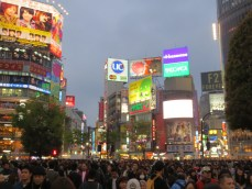 Shibuya. This is the famous street crossing you've seen before.