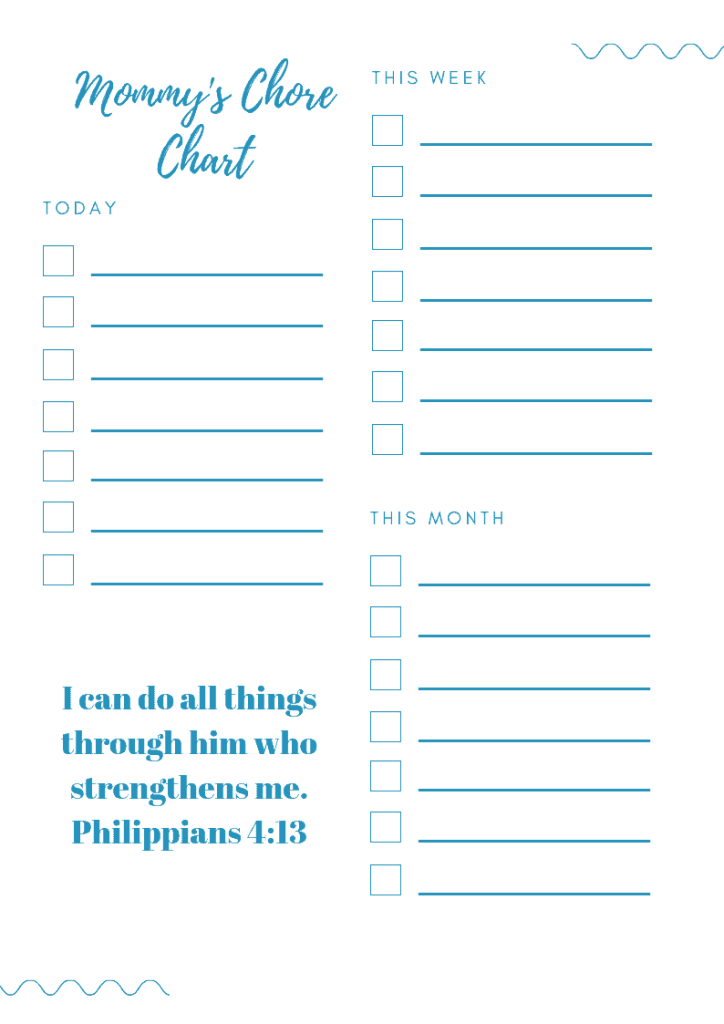 Productivity hack: chore chart for moms to keep homes clean and organized. #unfrazzledmama #cleanhome #chorechart #chores #cleaning #productivityhacks #howtokeepmyhouseclean #productivity #organization