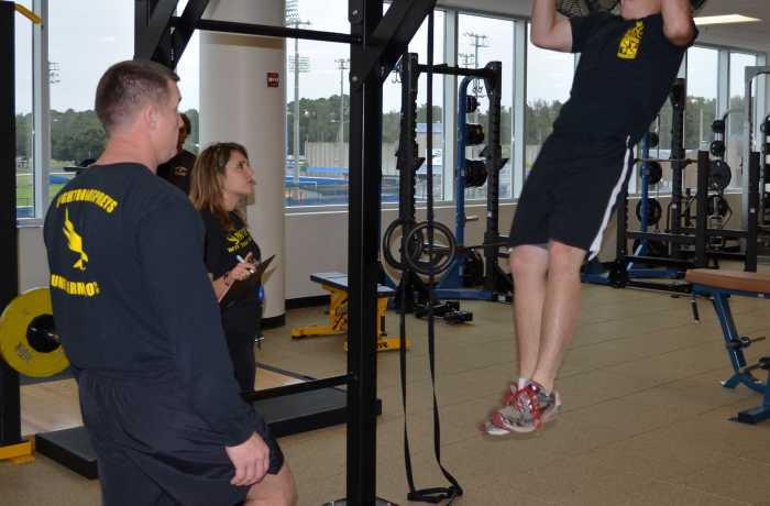 Students, ROTC and fitness instructors go head to head
