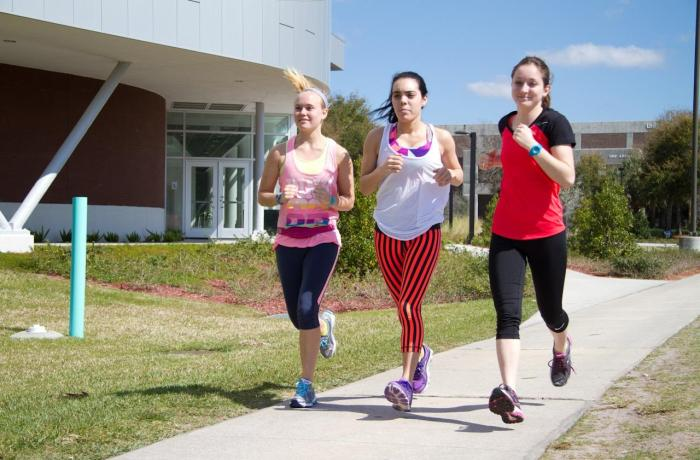 Students motivate each other to train for the annual Gate River Run